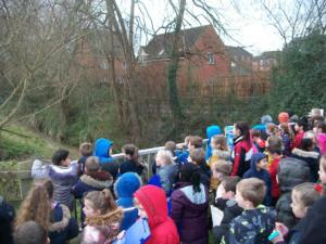 This is our geography field trip to Daniel's brook, where we explored the recent flood defences which have been put in place after the devastating floods of 2007.