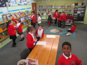 Children are able to visit the local library to borrow books; this encourages their love of reading.